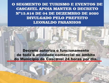 EMPRESÁRIOS APOIAM O GOVERNO MUNICIPAL A MANTER DECRETO QUE PERMITE O FUNCIONAMENTO DO COMERCIO 24H POR DIA
